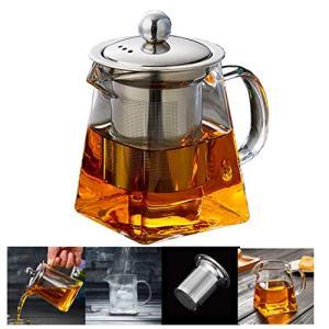 PluieSoleil ティーポット 耐熱ガラス 急須  紅茶ポット 500ml
