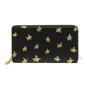 VAWA 財布 星柄 猫柄 紙幣柄 狼柄 レディース 長財布 大容量 かわいい 星空柄 黒 ファスナー財布 ウォレット 薄型 zakkanoyamato