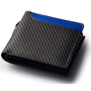 Healthknit (ヘルスニット) 財布 二つ折り財布 大容量 ボンテッドレザー メンズ zakkanoyamato