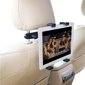 OHLPRO タブレットホルダー 車後部座席用 車載ホルダー 調節可能 360度回転式 7-13イン...