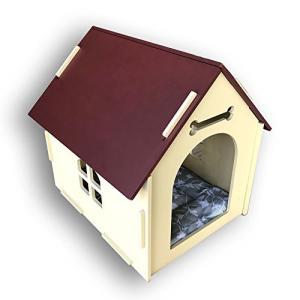 木製ペットハウス 組み立て簡単! 室内用 愛犬のおうち 小型犬用 リビングに似合うかわいいサイズ マ