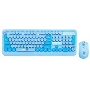 ワイヤレスキーボード, Veeki かわいい ミニ 超薄型防水 マウスセット 2.4Gワイヤレステク...