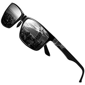 DUCO サングラス メンズ uv400 偏光サングラス 高級炭素繊維素材 アルミニウム合金フレーム...
