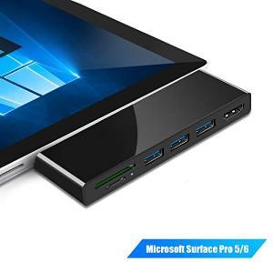 ユニークな多機能ハブデザイン:Surface Pro 6/5に完全にフィットするスリムで軽量なUSB...