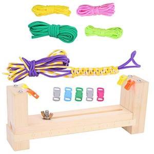 パラコードブレスレット編み機 手織り機 手作りメーカー 編み台 手芸 編みロープ 安全ロープ DIY道具 編みキッ|zakkanoyamato