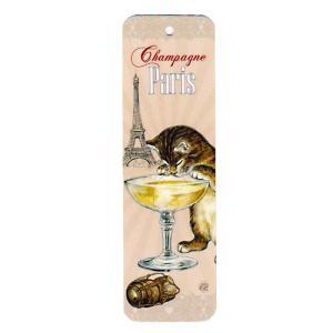 セブリーヌキャット ネコのしおり (パリのシャンパン) Champagne Paris フランス製