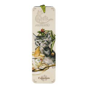 セブリーヌキャット ネコのしおり (帽子×紅茶) Catiminis フランス製