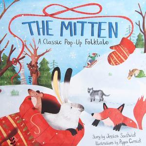 しかけ絵本   飛び出す絵本 クリスマス (The Mitten   毛糸の手袋) ポップアップ