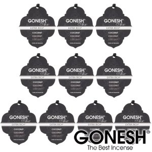 GONESH ガーネッシュ 吊り下げ芳香剤ペーパー Coconut -ココナッツ- 12個セット