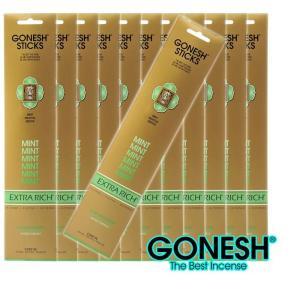 GONESH ガーネッシュ お香スティック Mint-ミント x12パックセット(合計240本入り) 送料無料
