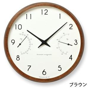 掛け時計 電波時計 温湿時計 レムノス カンパーニュ エール BPF18-03|zakkashopcom|03