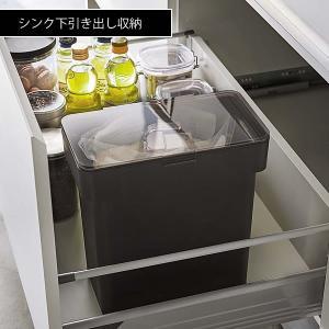 米びつ 5kg スリム タワー シンク下 袋ごと 計量カップ 密閉 収納 米櫃|zakkashopcom|03