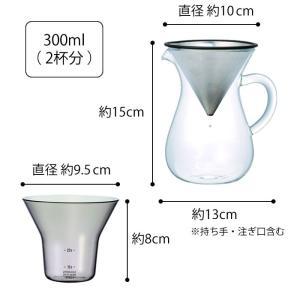 コーヒーカラフェセット KINTO 300ml ステンレス コーヒーポット おしゃれ ドリップポット キントー コーヒー ガラス コーヒーメーカー ペーパーレス|zakkashopcom|12