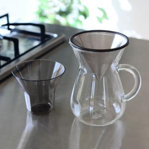 コーヒーカラフェセット KINTO 300ml ステンレス コーヒーポット おしゃれ ドリップポット キントー コーヒー ガラス コーヒーメーカー ペーパーレス|zakkashopcom|08