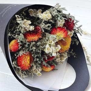 ドライフラワー スワッグ ベルフルール 花束 母の日 ギフト ミニョン ドゥ フラワー プレゼント お祝い ブーケ インテリア 花 ヘリクリサム zakkashopcom