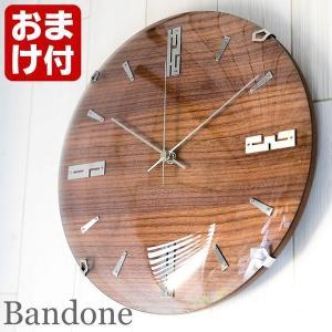 掛け時計 バンドーネ 電波時計 W-707 掛時計 壁掛け時計 おしゃれ ナチュラル 木製 ブラウン 電波 時計 ノア精密|zakkashopcom