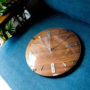 掛け時計 バンドーネ 電波時計 W-707 掛時計 壁掛け時計 おしゃれ ナチュラル 木製 ブラウン 電波 時計 ノア精密|zakkashopcom|04