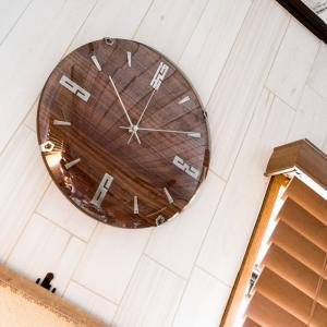 掛け時計 バンドーネ 電波時計 W-707 掛時計 壁掛け時計 おしゃれ ナチュラル 木製 ブラウン 電波 時計 ノア精密|zakkashopcom|05
