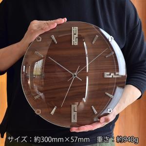 掛け時計 バンドーネ 電波時計 W-707 掛時計 壁掛け時計 おしゃれ ナチュラル 木製 ブラウン 電波 時計 ノア精密|zakkashopcom|09