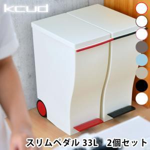 ゴミ箱 クード スリムペダル 2個セット Kcud 30L ごみ箱 分別 フタ付き ペダル おしゃれ|zakkashopcom