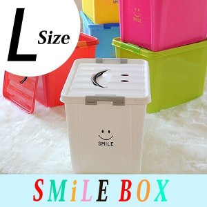 【よりどり送料無料】 おもちゃ箱 スマイルボックス Lサイズ オモチャ箱 おもちゃ 収納ケース カラーボックス フタ付き