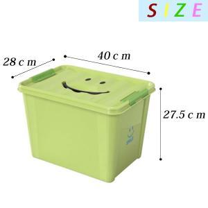 【よりどり送料無料】 おもちゃ箱 スマイルボックス Lサイズ オモチャ箱 おもちゃ 収納ケース カラーボックス フタ付き|zakkashopcom|02