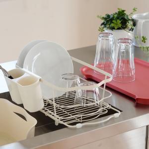 水切りかご しまえる水切り 水切りラック 水切り 箸立て付き キッチン収納 水切りカゴ|zakkashopcom|11
