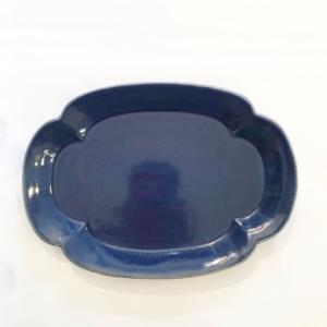 【STUDIOM'】リアン焼き物皿・藍 zakkaswitch