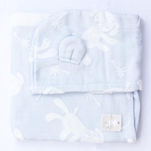 【今治製タオル】マカロン フードバスタオル ブルー|zakkaswitch