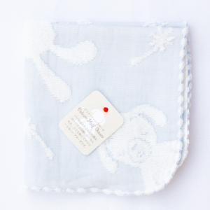 【今治製タオル】マカロン ハンカチタオル ブルー|zakkaswitch