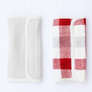 【今治製タオル】ブロックチェック ベルトカバー レッド|zakkaswitch