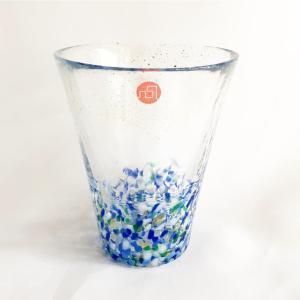 【涼しげなグラスで一杯♪お酒が好きなお父さんへ】津軽びいどろグラス・海空|zakkaswitch