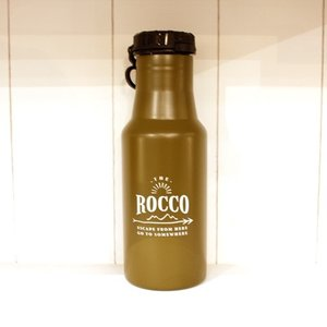 【ROCCO】保冷ステンレスボトル500ml・カーキ|zakkaswitch