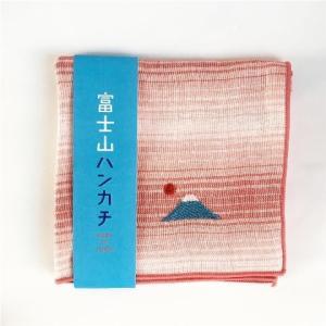 【にっぽん小物】刺繍ハンカチ・赤富士と日の出 zakkaswitch