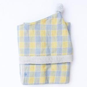 【今治製タオル】アンジェリーナ フード付きバスタオル ブルー zakkaswitch