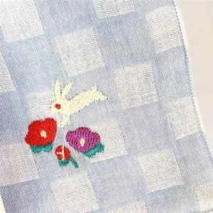 【にっぽん小物】刺繍ハンカチ・春の花・水色|zakkaswitch|02