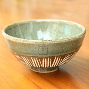 【rokuro 茶碗】へなり茶碗・堀緑灰 zakkaswitch