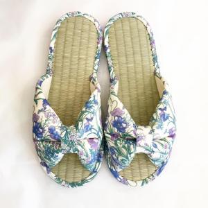 【涼のギフトにも!】日本製 畳の夏スリッパ・ライトブルー|zakkaswitch