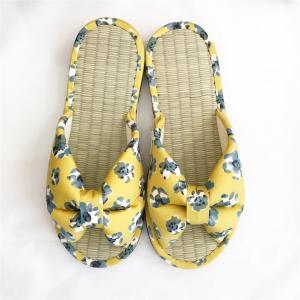【涼のギフトにも!】日本製 畳の夏スリッパ・イエロー|zakkaswitch