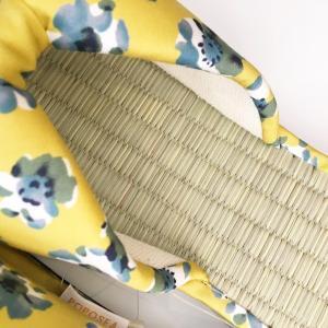 【涼のギフトにも!】日本製 畳の夏スリッパ・イエロー|zakkaswitch|02
