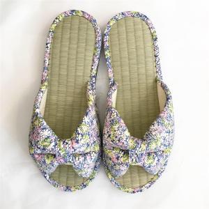 【涼のギフトにも!】日本製 畳の夏スリッパ・小花ブルー|zakkaswitch