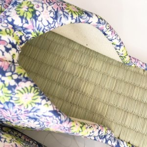 【涼のギフトにも!】日本製 畳の夏スリッパ・小花ブルー|zakkaswitch|02
