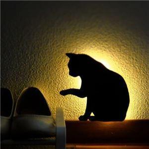 センサーライト 電池式 屋内 猫 LED照明 タイプ1 音感センサー内蔵 自動消灯 足元 2個セット|zakkat-select