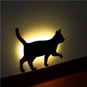 センサーライト 電池式 屋内 猫 LED照明 タイプ2 音感センサー内蔵 自動消灯 足元 2個セット|zakkat-select