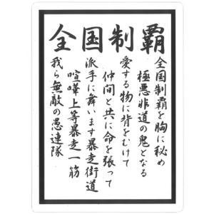 透明 ツッパリ下敷き  全国制覇 B5 (定形外郵便可)|zakkatengoku