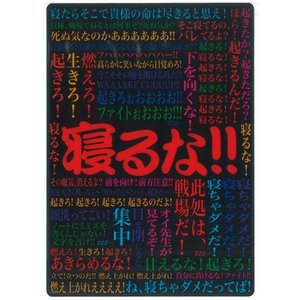 寝るな 下敷き B5 (定形外郵便可)|zakkatengoku
