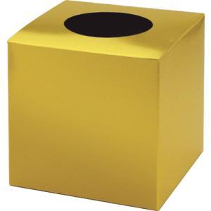 使い勝手のいい、シンプルな無地抽選箱!紙製の組み立て式抽選箱です。幸運を呼ぶ金! ●組立式●陳列に便...