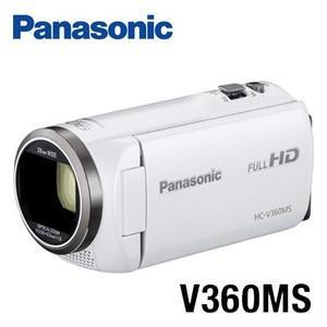 パナソニック HC-V360MS-W  ホワイトデジタルハイビジョンビデオカメラ 16GBメモリー内...