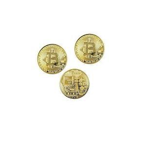 ビットコイン 3枚セット 黄金に輝く 金運 強運 ゴルフマーカー bitcoin レプリカ 景品 仮...