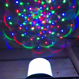 3Dトゥインクルプロジェクター ブラック ミラーボール イルミネーション ライト パーティーライト 回転 ディスコ ライト 照明